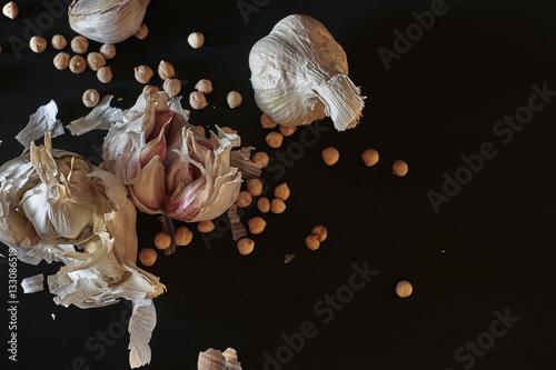 Fotografie, Obraz  Garlic Arrangement