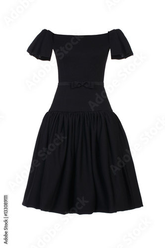 Little Black Dress With Rhinestones Isolated On White Buy This