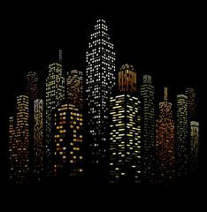 FototapetaVector Urban Cityscape Silhouette Illustration
