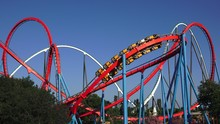 Multiple Roller Coasters At Th...