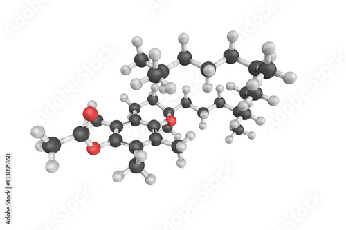 3d structure of Tocopheryl acetate, also known as vitamin E acet Wallpaper Mural