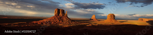 Deurstickers Bleke violet Monument Valley