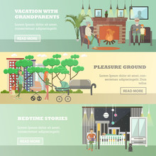 Vector Set Of Family Concept H...