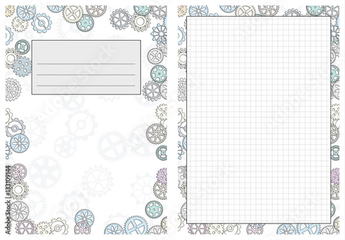 photograph relating to Gears Printable identify Fixed of web pages template for day by day planner. Printable, for
