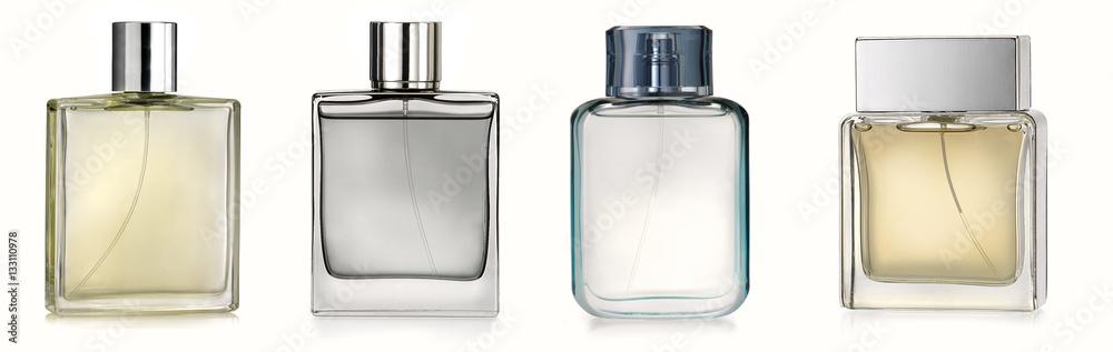 Fototapety, obrazy: Generic perfume bottles isolated on white background