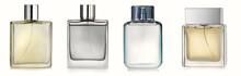 Generic Perfume Bottles Isolated On White Background