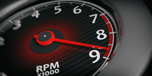 Car Tachometer. 3d Illustration