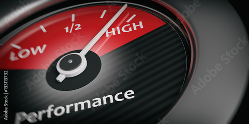 Fotomural  Car indicator high performance. 3d illustration