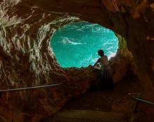 A Sea Cave At Rosh Hanikra - Israel