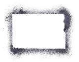 Fototapeta Młodzieżowe - Grunge stencil frame