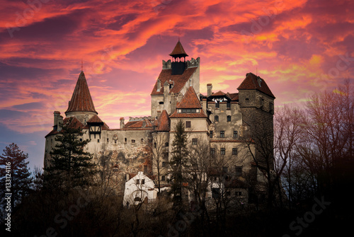 Spoed Foto op Canvas Kasteel Bran Castle, Transylvania, Romania, known as