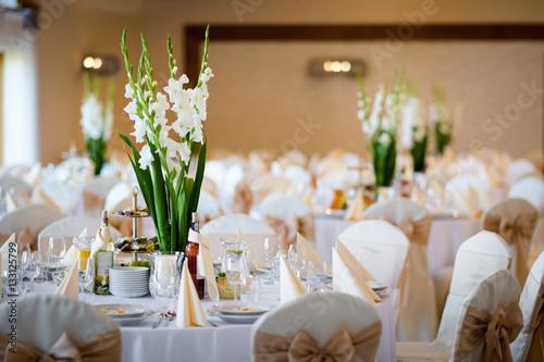 Beautiful Wedding Reception Table Decoration Buy This Stock Photo