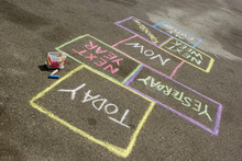Hopscotch Of Life. Making Decision About The Future.