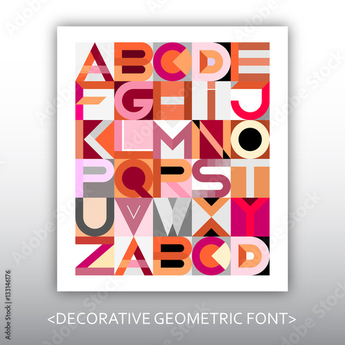 Photo Stands Abstract Art Decorative Geometric Vector Font