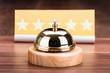 Service Bell Near Five Star Shape Card