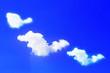 Leinwandbild Motiv Blue sky and white cloud.