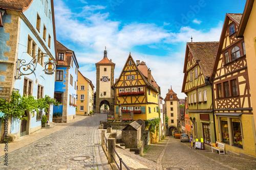 Fotomural  Old street in Rothenburg
