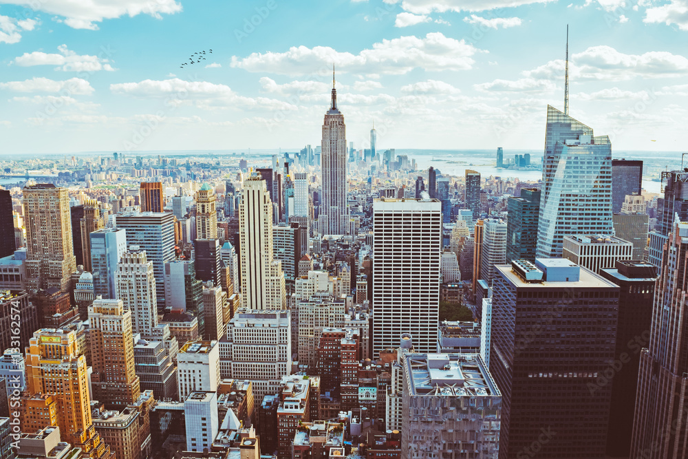 Fototapety, obrazy: New York City (Taken from Helicopter)