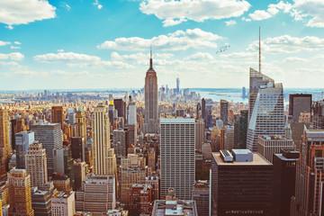 Fototapeta New York City (Taken from Helicopter)