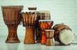 Leinwanddruck Bild - variation of ethnic drums