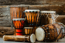 Variation Of Ethnic Drums