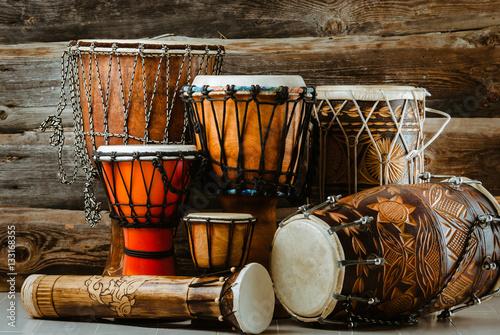 Fotomural variation of ethnic drums
