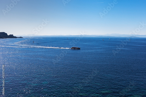 Staande foto Zee / Oceaan Bonifacio strait between Corsica, France and Sardinia , Italy ;