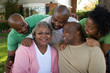 canvas print picture - Mature African American couple and their adult kids.