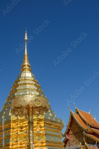 Foto op Aluminium Temple Wat Phra That Doi Suthep Temple in Chiang Mai, Thailand