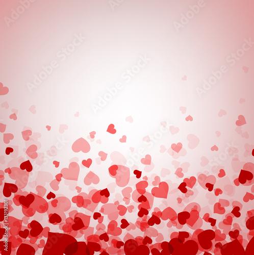 Love valentine's background with hearts. © Vjom