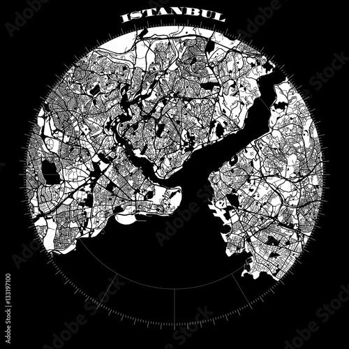 Fototapeta Istanbul Compass Design Map Artprint