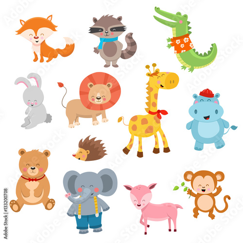 Photo  Cute Cartoon Animal Characters