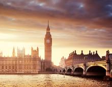 Big Ben And Westminster At Sun...