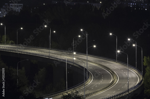 Foto op Aluminium Nacht snelweg city bypass at night
