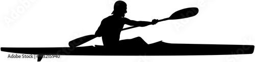 Valokuva  athlete kayaker sports kayak paddle black silhouette