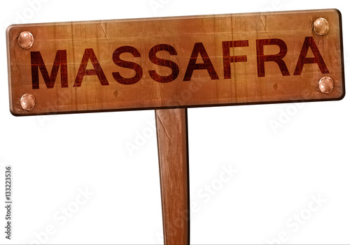 Fotografie, Obraz  Massafra road sign, 3D rendering