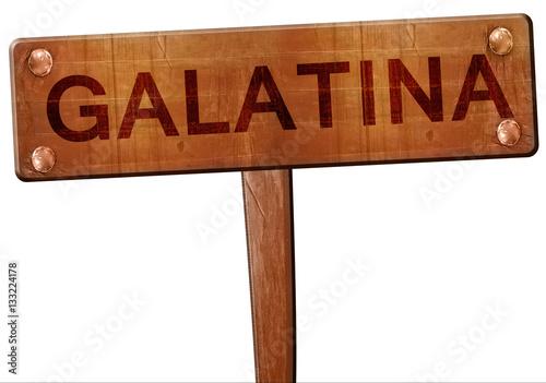 Fotografie, Obraz  Galatina road sign, 3D rendering