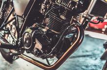 Motorbike Engine (vintage Style)