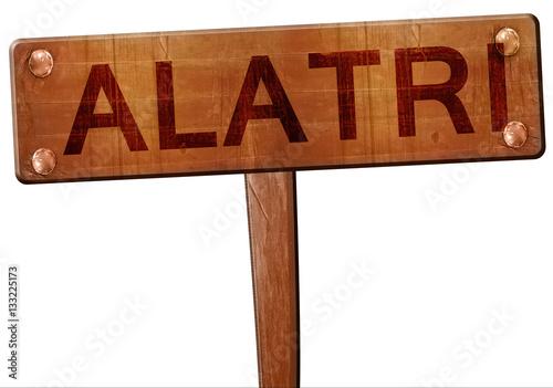 Alatri road sign, 3D rendering Canvas Print