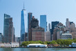 Manhattan downtown and Battery Park close up