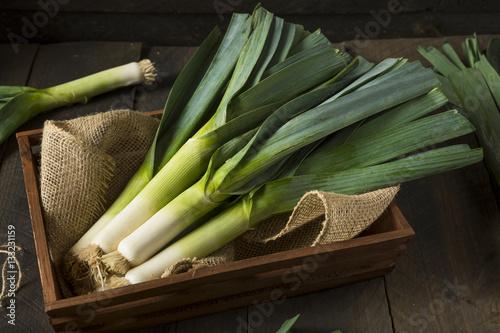 Raw Green Organic Leeks