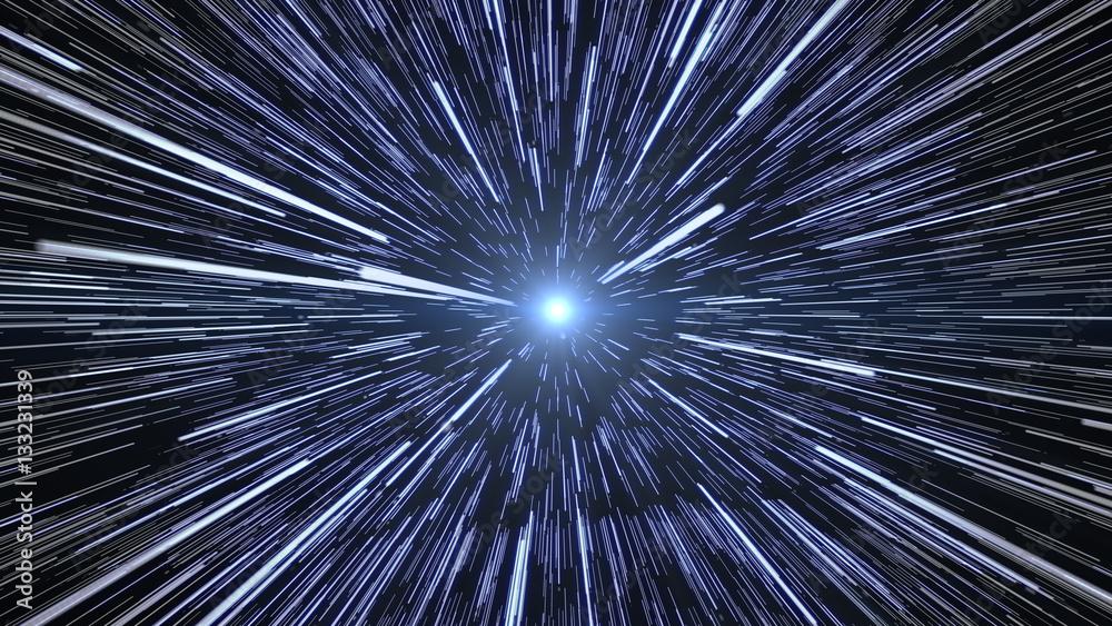Fototapety, obrazy: Hyperspace Stars Travel