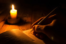 The Manuscript By Candlelight