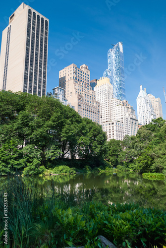 Manhattan towers emerging over Central Park Fototapete