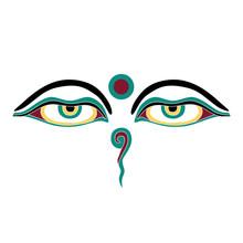 The Eyes Of A Buddha Turquoise Icon Symbol Buddhism Tibet Sacred