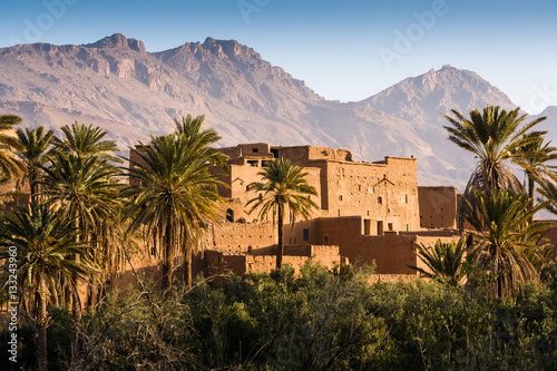 Canvas Prints Morocco Kasbah near Tinerhir at the road to the Gorges du Dades, Morocco