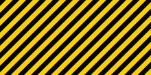 Warning Striped Rectangular Ba...