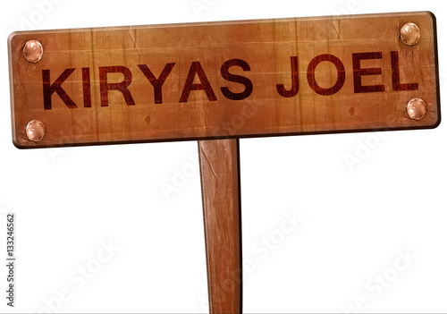Photo  kiryas joel road sign, 3D rendering