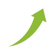 Success Arrow Up Icon Vector I...