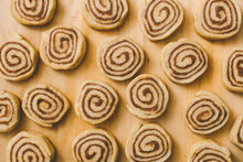 Unbaked Raw Cinnamon Rolls